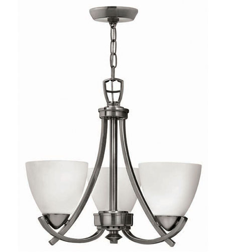 Hinkley Soho 3Lt Chandelier in Polished Antique Nickel 4123PL photo