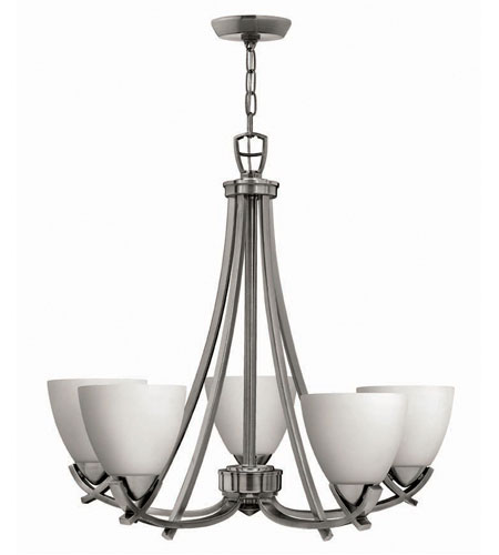 Hinkley Soho 5Lt Chandelier in Polished Antique Nickel 4125PL photo