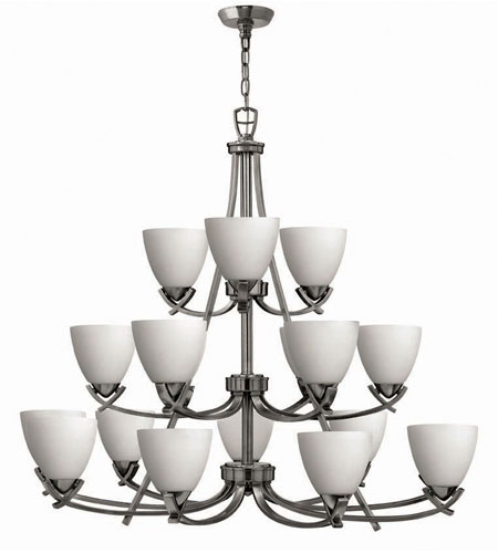 Hinkley Soho 3 Tier 18Lt Chandelier in Polished Antique Nickel 4129PL photo