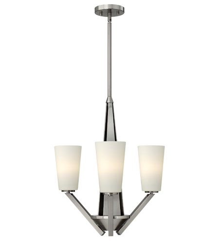 Hinkley Lighting Victory 3 Light Chandelier in Brushed Nickel 4133BN