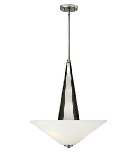 Hinkley Lighting Victory 3 Light Foyer Pendant in Brushed Nickel 4134BN