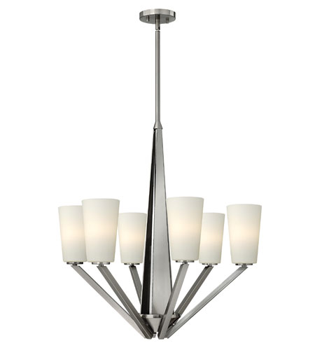 Hinkley 4136BN Victory 6 Light 27 inch Brushed Nickel Chandelier Ceiling Light photo