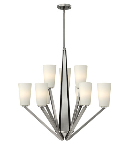 Hinkley Lighting Victory 9 Light Chandelier in Brushed Nickel 4138BN photo