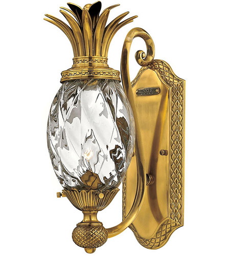 Hinkley Lighting Plantation 1 Light Sconce in Burnished Brass 4140BB