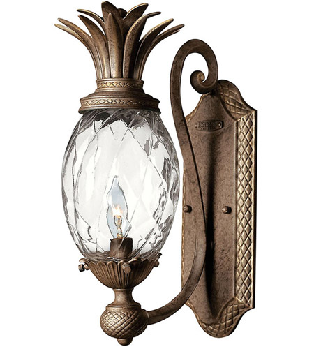Hinkley Lighting Plantation 1 Light Sconce in Pearl Bronze 4140PZ