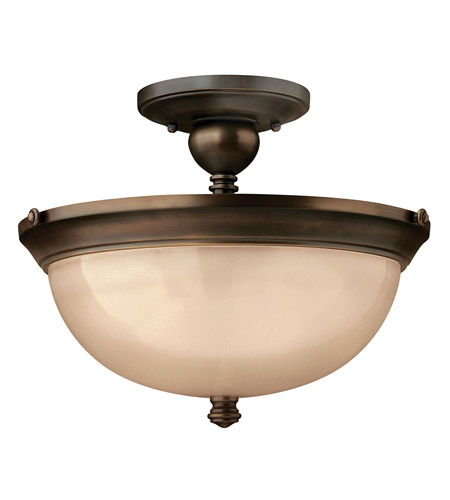 Hinkley 4161OB Mayflower 3 Light 15 inch Olde Bronze Semi Flush Ceiling Light photo
