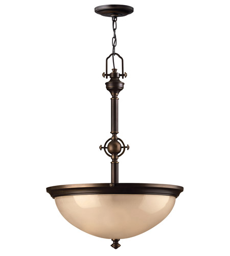 Hinkley 4162OB Mayflower 3 Light 21 inch Olde Bronze Hanging Foyer Ceiling Light photo
