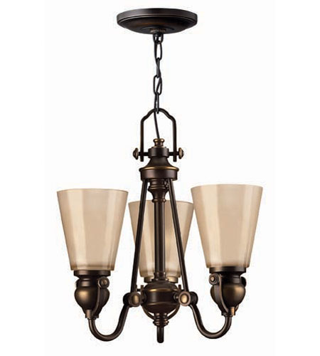 Hinkley Lighting Mayflower 3 Light Chandelier in Olde Bronze 4163OB photo
