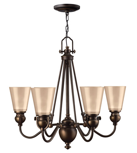 Hinkley 4166OB Mayflower 6 Light 26 inch Olde Bronze Chandelier Ceiling Light photo