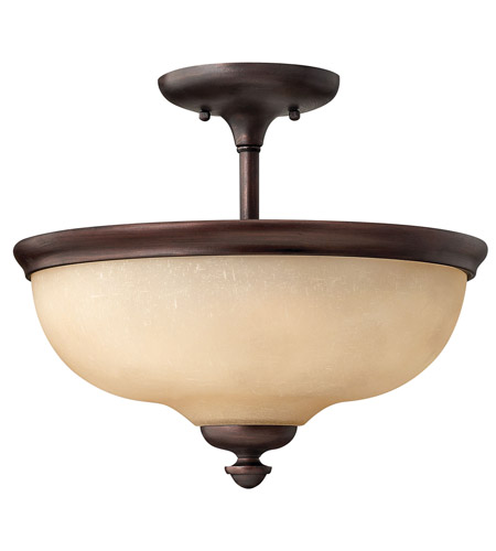 Hinkley Lighting Thistledown 3 Light Semi Flush in Victorian Bronze 4170VZ