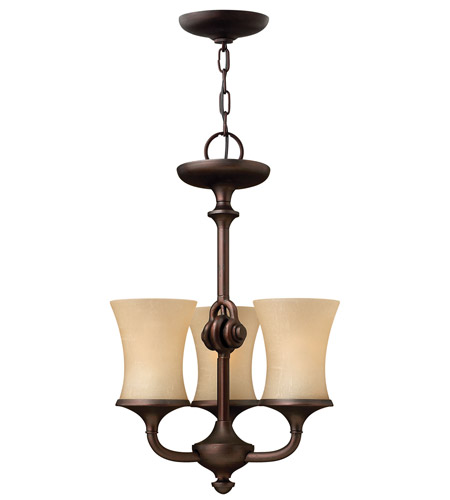 Hinkley 4173VZ Thistledown 3 Light 15 inch Victorian Bronze Chandelier Ceiling Light photo