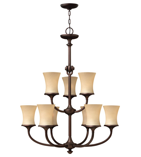 Hinkley 4178VZ Thistledown 9 Light 31 inch Victorian Bronze Chandelier Ceiling Light, 2 Tier photo