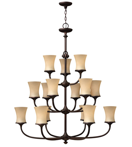 Hinkley 4179VZ Thistledown 15 Light 42 inch Victorian Bronze Chandelier Ceiling Light, 3 Tier photo