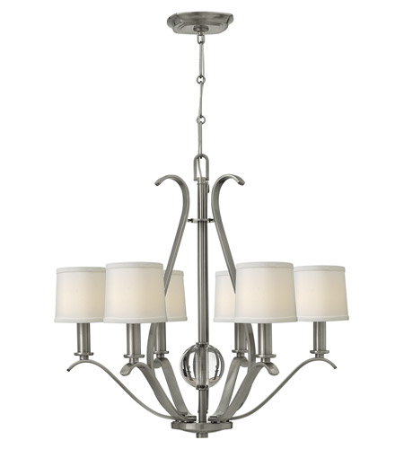 brushed nickel chandelier chain with shades canopy light ceiling photo