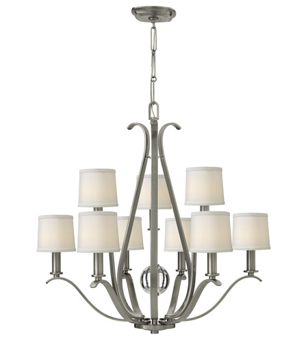 Hinkley 4188BN Clara 9 Light 33 inch Brushed Nickel Chandelier Ceiling Light photo