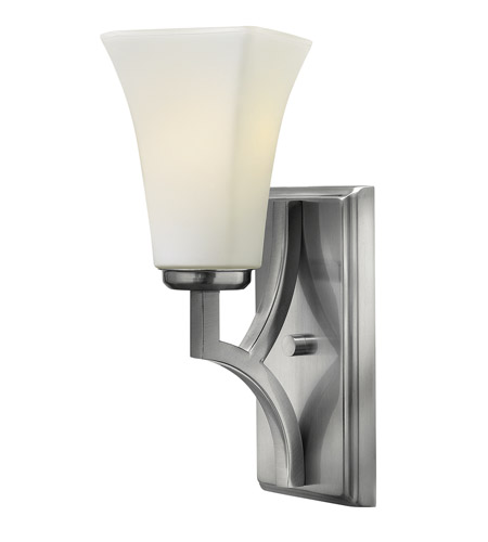 Hinkley 4190BN Spencer 1 Light 5 inch Brushed Nickel Sconce Wall Light, Etched Opal Glass photo