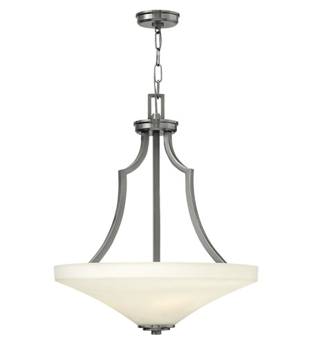 Hinkley 4193BN Spencer 4 Light 20 inch Brushed Nickel Foyer Ceiling Light in Etched Opal, Etched Opal Glass photo