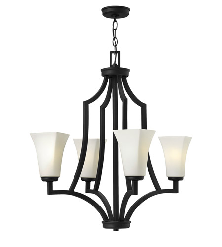 Hinkley Lighting Spencer 4 Light Chandelier in Textured Black 4194TB photo