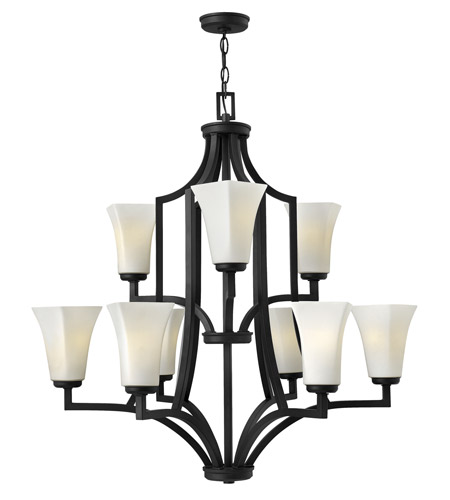 Hinkley Lighting Spencer 9 Light Chandelier in Textured Black 4198TB