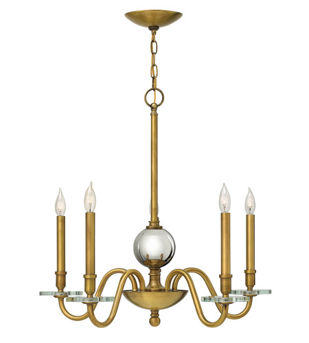 Hinkley Lighting Everly 5 Light Chandelier in Heritage Brass 4205HB photo
