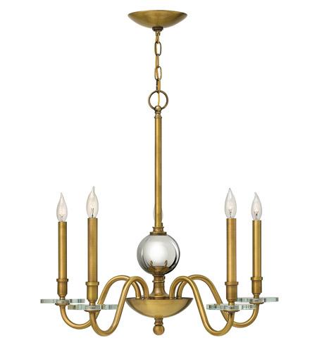 Hinkley Lighting Everly 5 Light Chandelier in Heritage Brass 4205HB