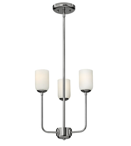 Hinkley Lighting Harlow 3 Light Chandelier in Polished Nickel 4213PN