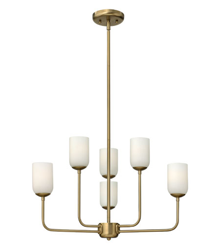 Hinkley Lighting Harlow 6 Light Chandelier in Brushed Caramel 4216BC