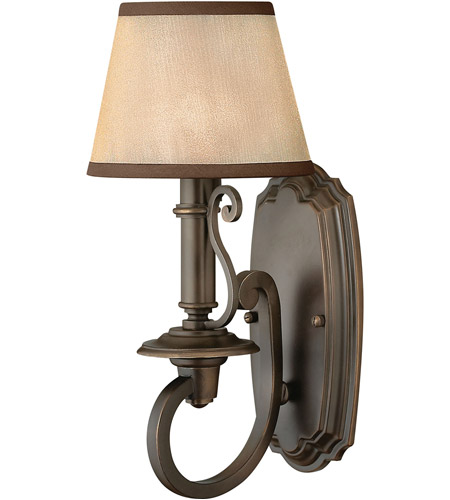 Hinkley Lighting Plymouth 1 Light Sconce in Olde Bronze 4240OB