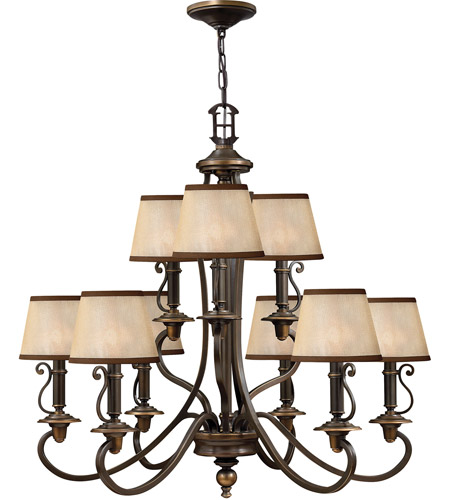 Hinkley Lighting Plymouth 9 Light Chandelier in Olde Bronze 4248OB