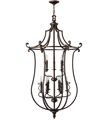 Hinkley 4259OB Plymouth 9 Light 30 inch Olde Bronze Chandelier Ceiling Light photo