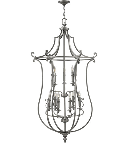 Hinkley 4259PL Plymouth 9 Light 30 inch Polished Antique Nickel Chandelier Ceiling Light photo