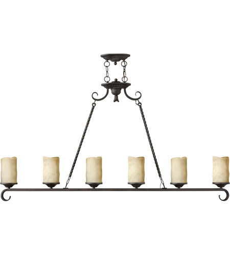 Hinkley 4304OL Casa 6 Light 54 inch Olde Black Linear Chandelier Ceiling Light, Island photo