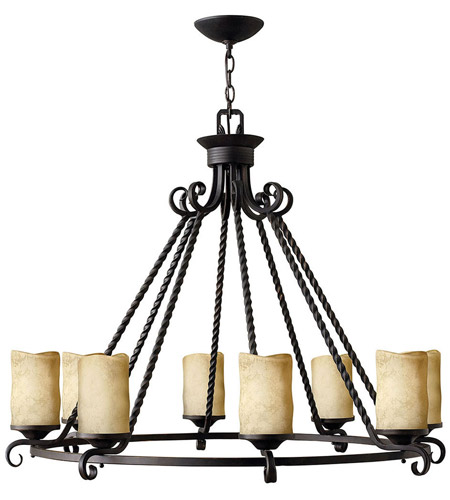 Hinkley 4308OL Casa 8 Light 37 inch Olde Black Foyer Chandelier Ceiling Light photo