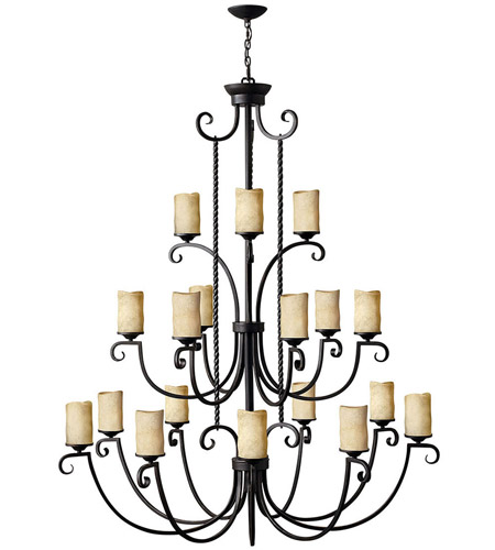 Hinkley 4309OL Casa 18 Light 56 inch Olde Black Chandelier Ceiling Light, 3 Tier photo