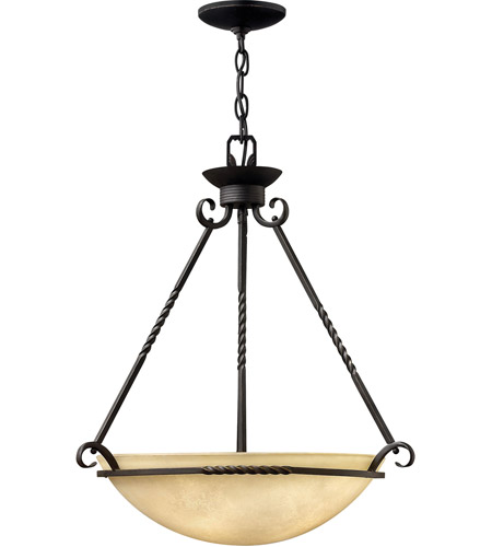 Hinkley 4314OL Casa 4 Light 27 inch Olde Black Hanging Foyer Ceiling Light in Incandescent photo