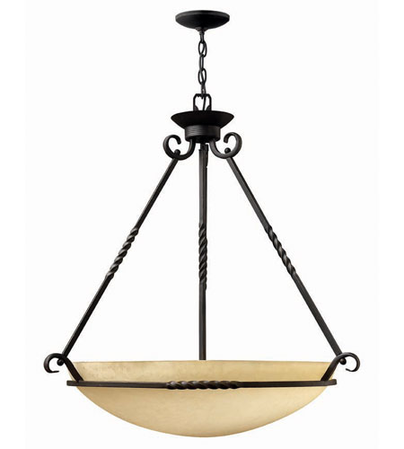 Hinkley Lighting Casa 6 Light Hanging Foyer in Olde Black 4316OL