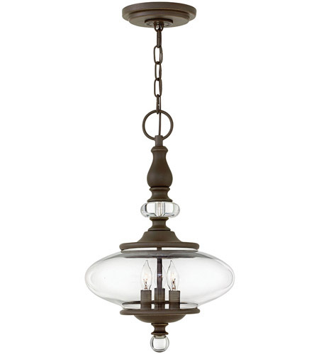 Hinkley 4323OZ Wexley 3 Light 12 inch Oil Rubbed Bronze Chandelier Ceiling Light photo