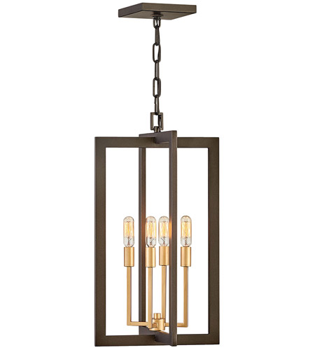 Hinkley 4343MM Anders 4 Light 12 inch Metallic Matte Bronze with Deluxe Gold Accents Foyer Light Ceiling Light, Open Frame photo thumbnail