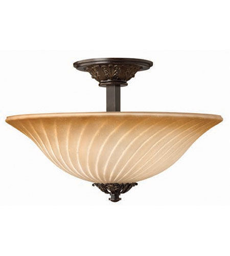 Hinkley Valencia Semi Flush 3Lt Foyer in Regency Bronze 4352RB photo