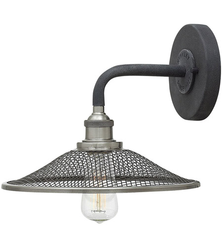 Hinkley 4360DZ Rigby 1 Light 10 inch Aged Zinc Sconce Wall Light, Mesh Shades photo
