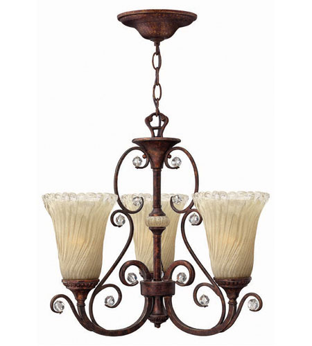 Hinkley Burgesa 3Lt Chandelier in Venetian Copper 4363VR photo