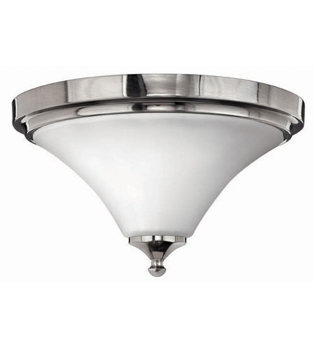 Hinkley Lighting Bloom 2 Light Flush Mount in Polished Antique Nickel 4371PL