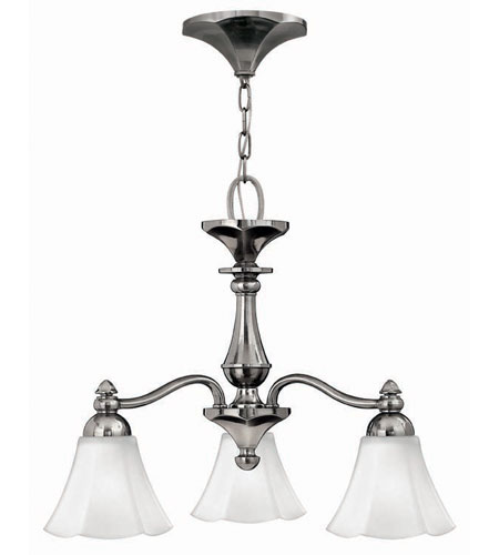 Hinkley Lighting Bloom 3 Light Chandelier in Polished Antique Nickel 4373PL