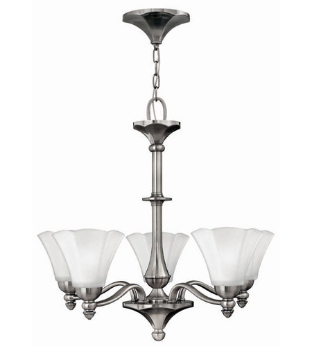 Hinkley Lighting Bloom 5 Light Chandelier in Polished Antique Nickel 4375PL photo
