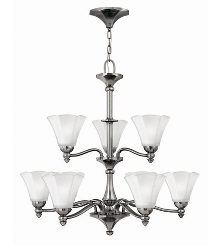 Hinkley Lighting Bloom 9 Light Chandelier in Polished Antique Nickel 4378PL photo