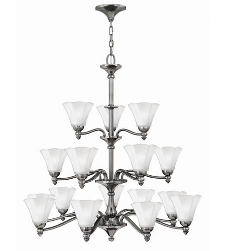 Hinkley Lighting Bloom 18 Light Chandelier in Polished Antique Nickel 4379PL photo