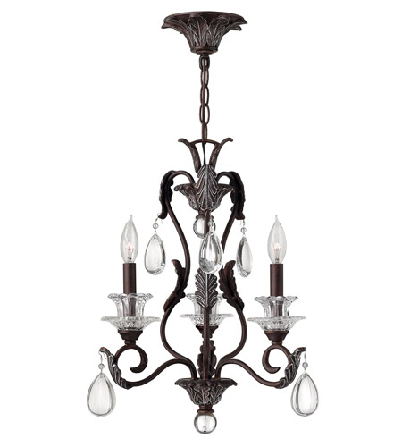 Hinkley Lighting Marcellina 3 Light Chandelier in Golden Bronze 4403GR