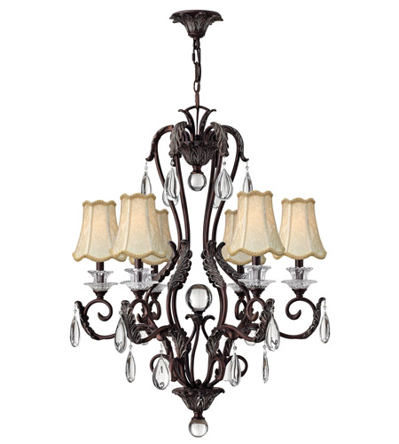 Hinkley 4406GR Marcellina 6 Light 29 inch Golden Bronze Chandelier Ceiling Light photo