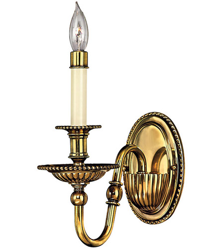 Hinkley Lighting Cambridge 1 Light Sconce in Burnished Brass 4410BB