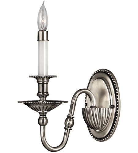 Hinkley 4410PW Cambridge 1 Light 5 inch Pewter Sconce Wall Light photo